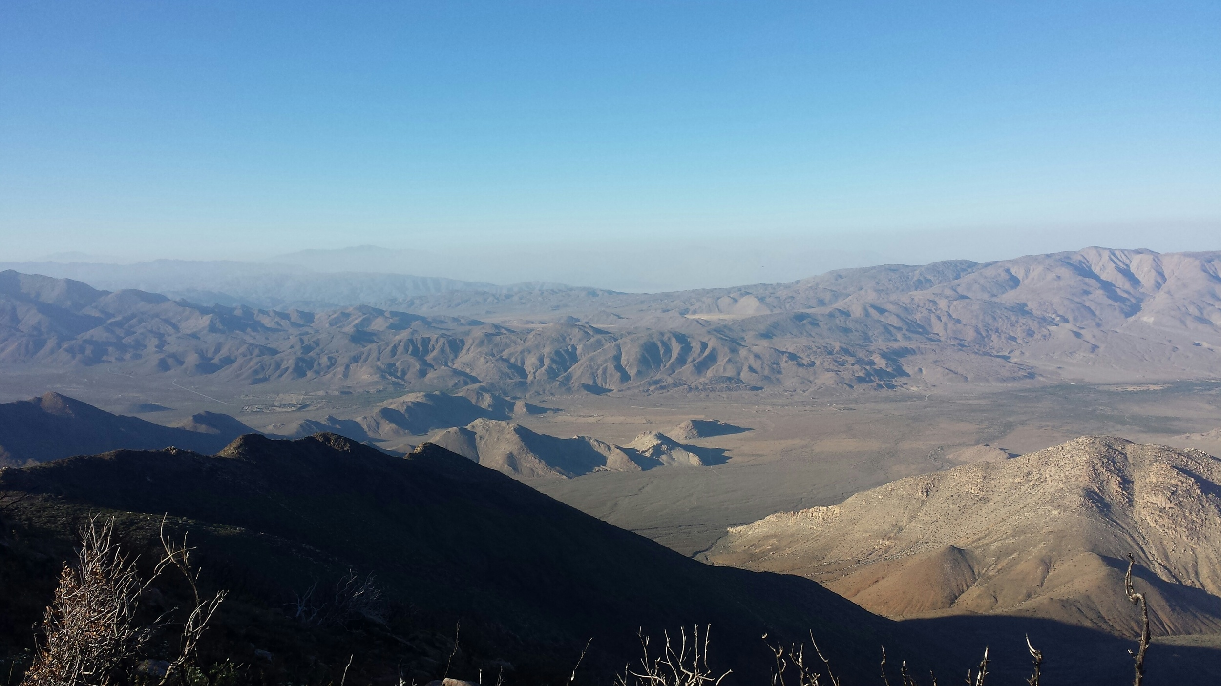 Distant desert.