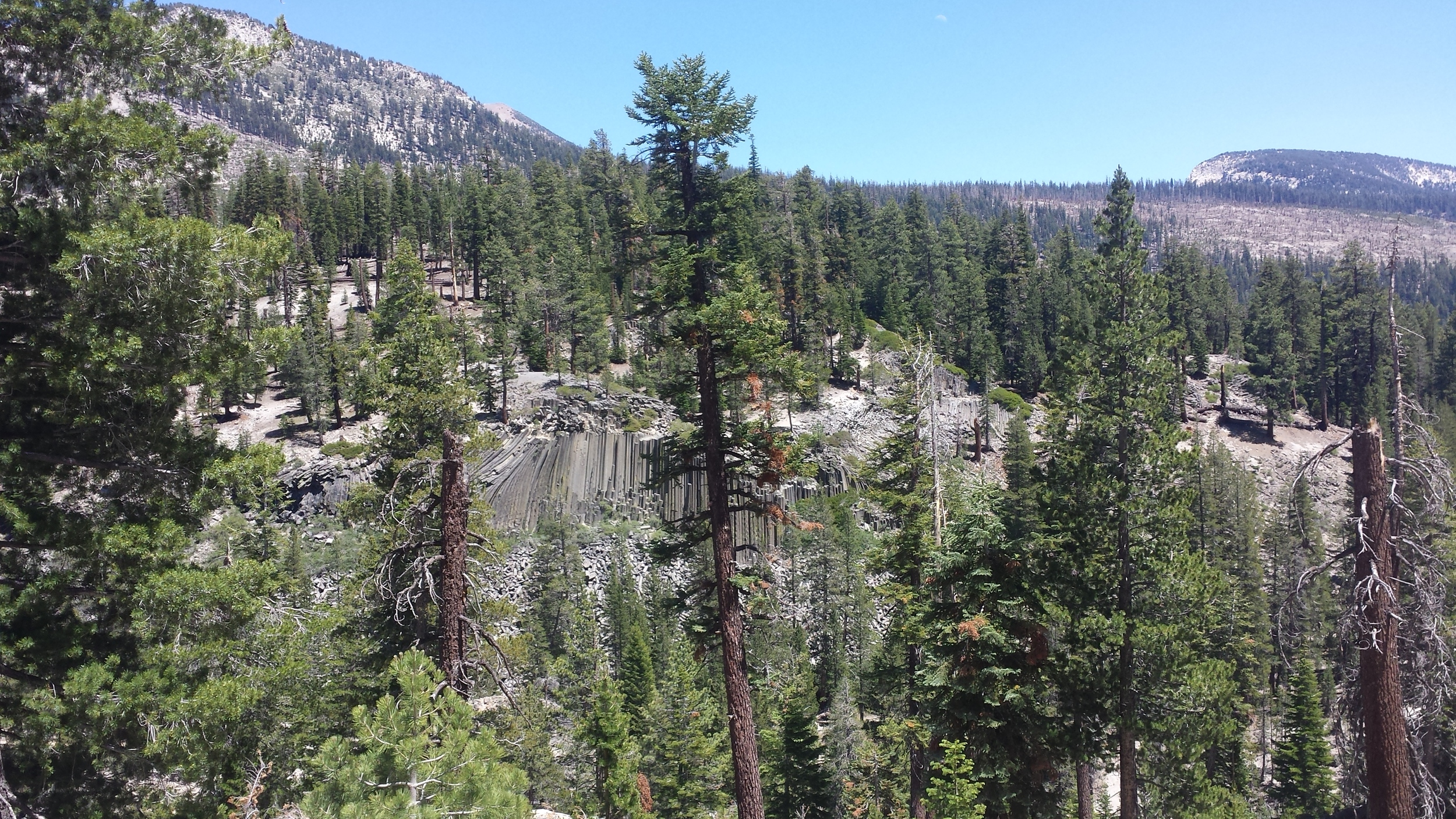 postpile from above