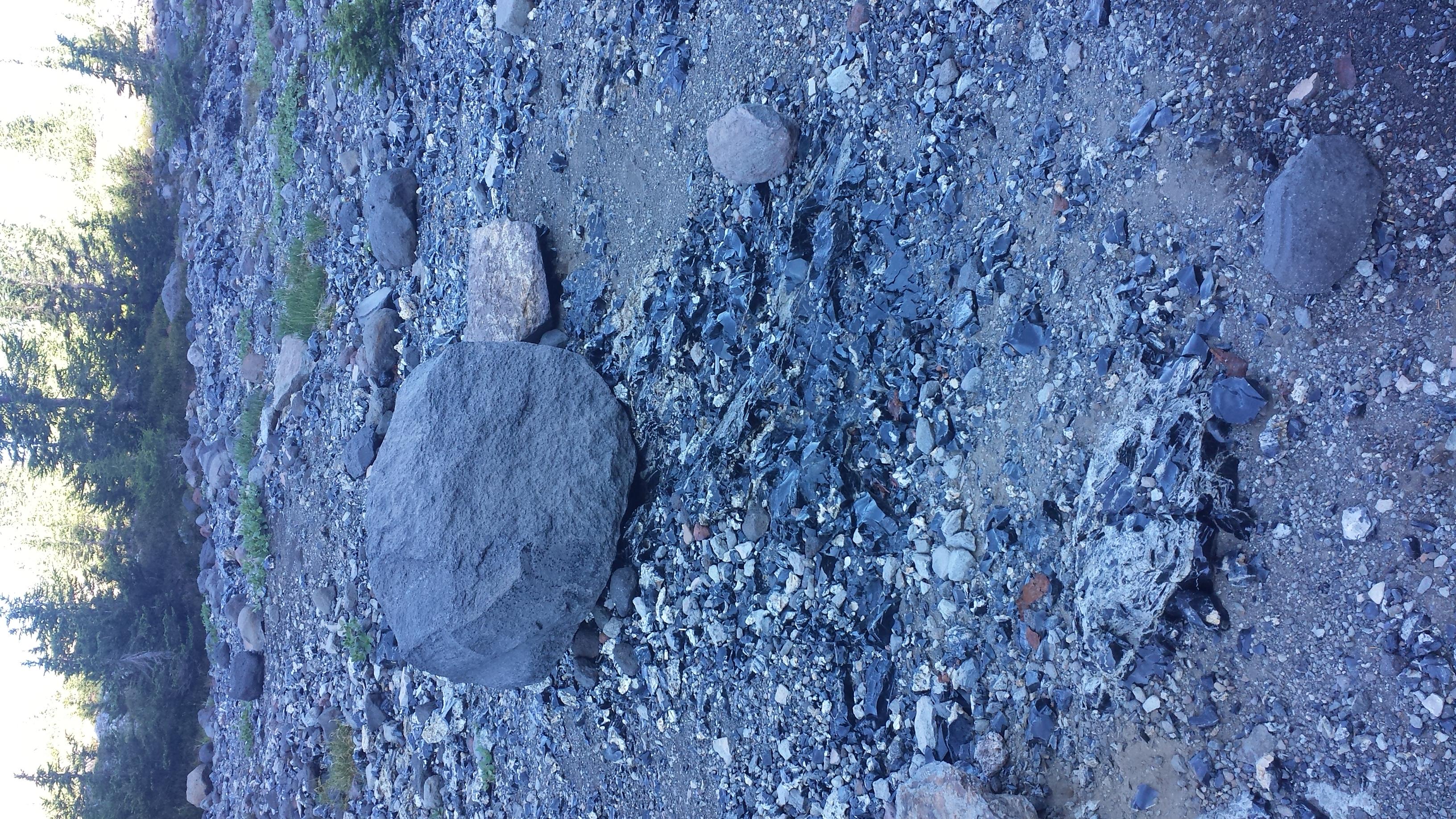 obsidian boulder