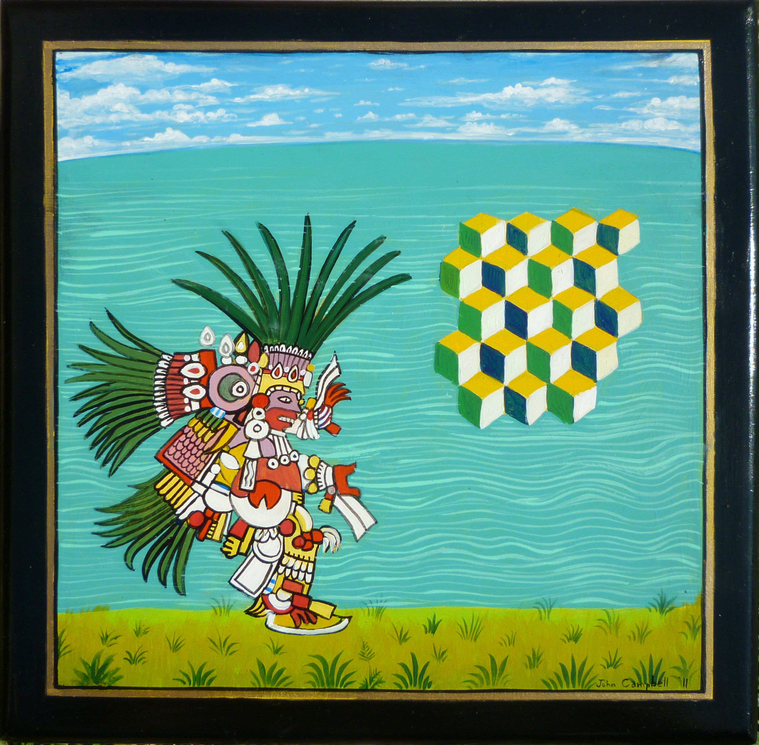 Quetzalcoatl 2011 acrylic on panel 8 x 8     inches    n  ot available