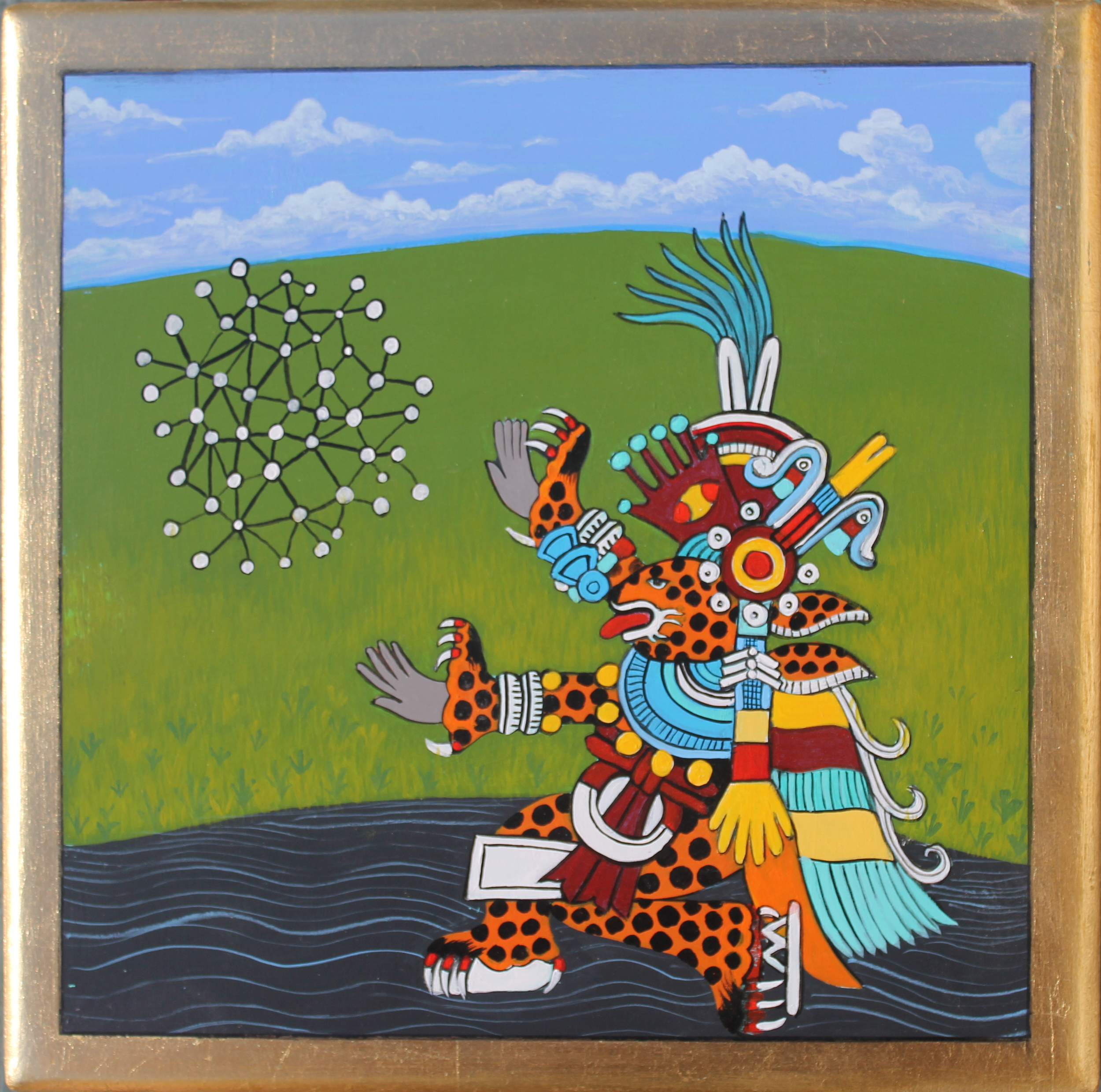 Tezcatlipoca 2011 acrylic on panel 8 x 8  inches    n  ot available