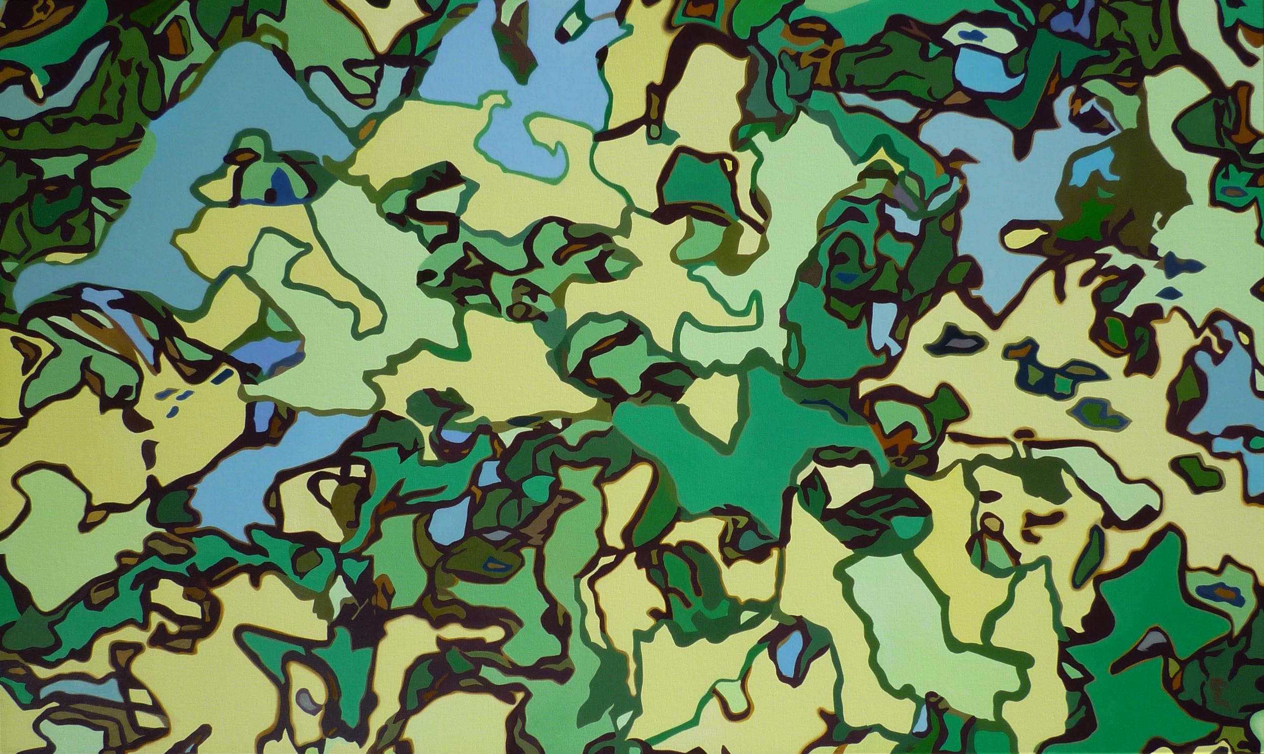 Green/2009/3x5 feet/oil on linen