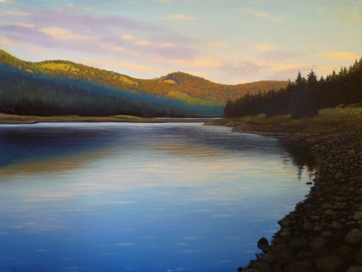Lake/ 2010/ oil on canvas/ 11 x 14 inches