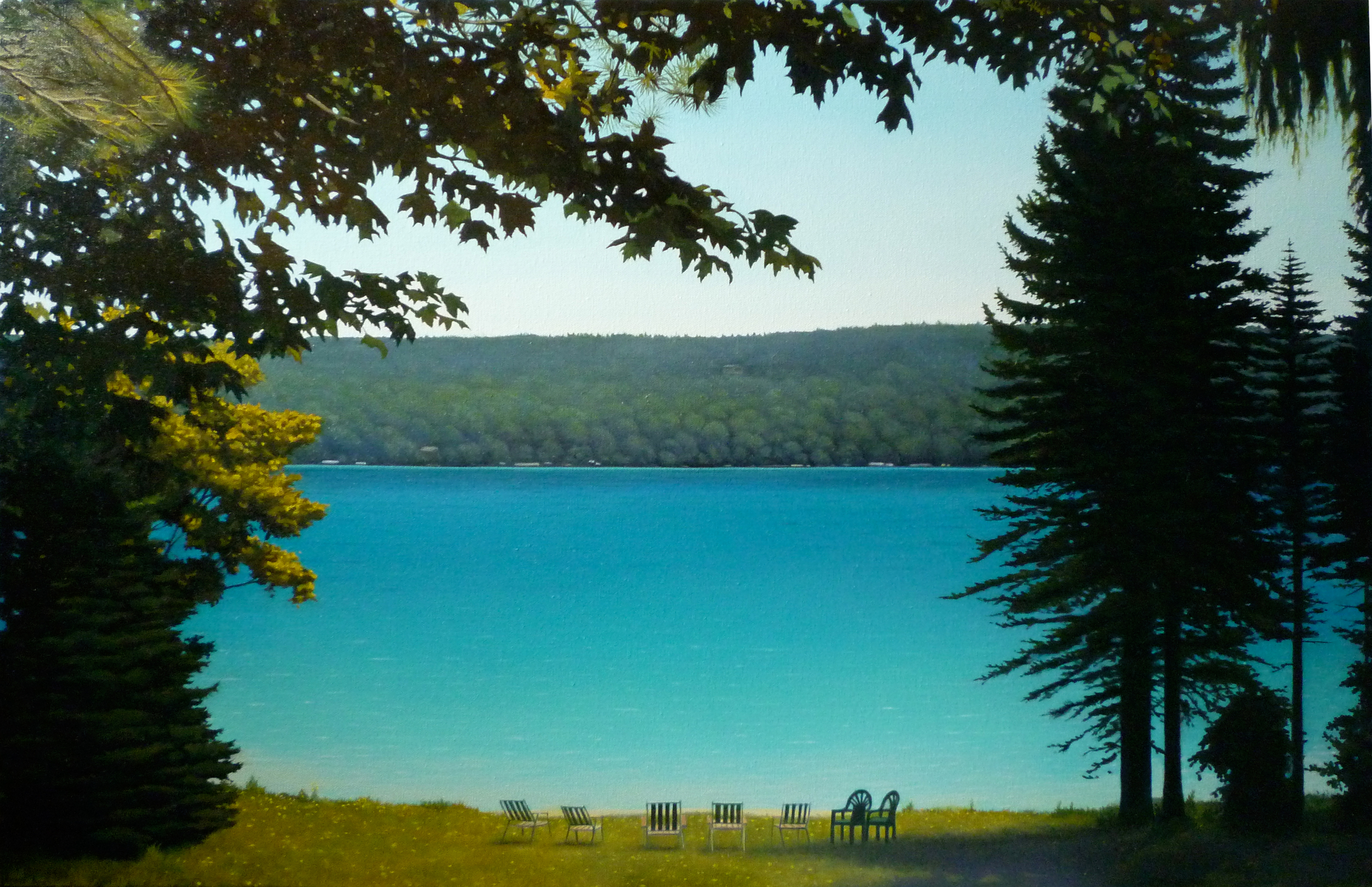 Torch Lake/ 2012/ oil on canvas/ 30 x 48 inches
