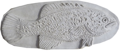 Murray Cod , Clay relief by Penny Sadubin March 2019 - the starting point for the 3D prints