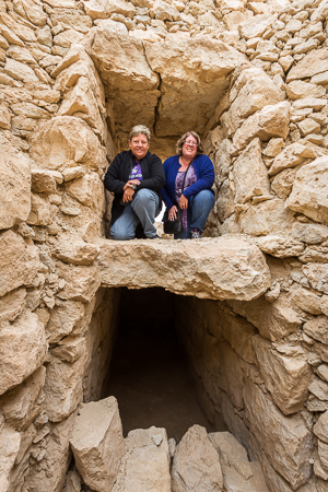Inside a burial chamber