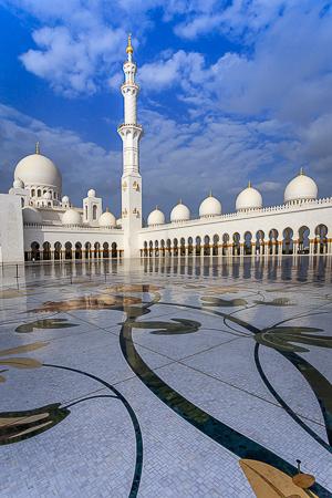 The beautiful mosaic courtyard