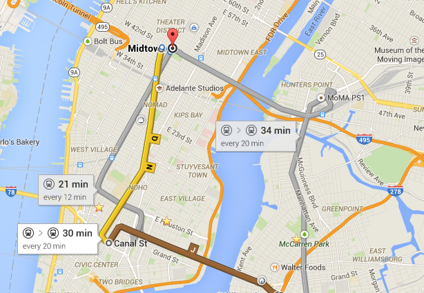Google maps is accurate but you still have to factor in walking up or down 5 flights of stairs.