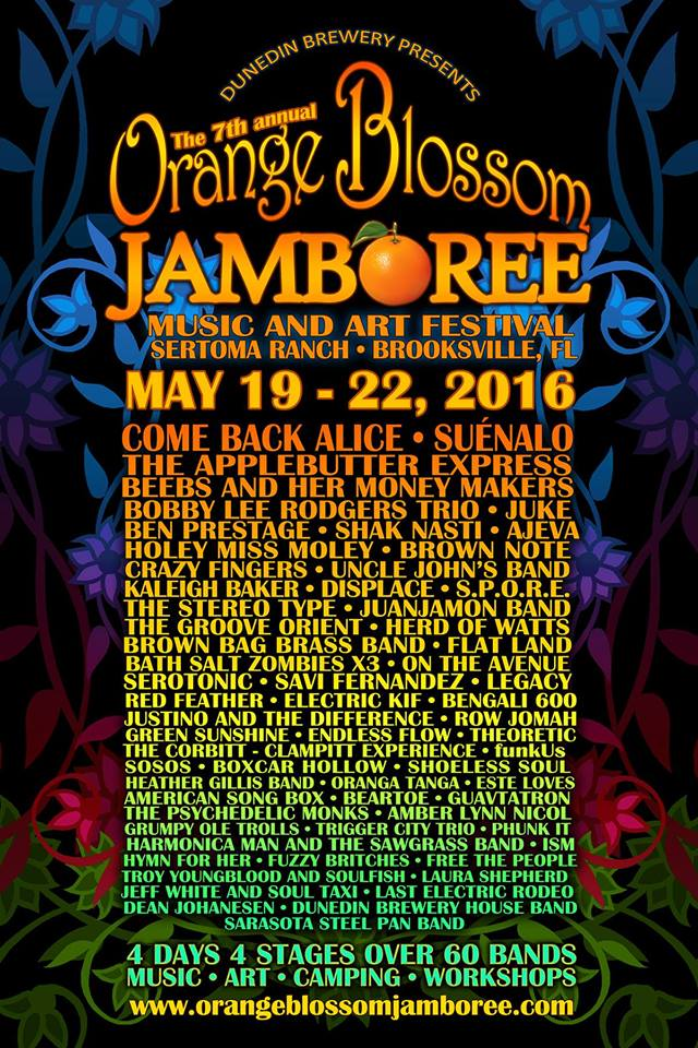 Orange Blossom Jamboree 2016 with Holey Miss Moley (Thursday, May 19th)& Bengali 600 (Saturday, May 21st)