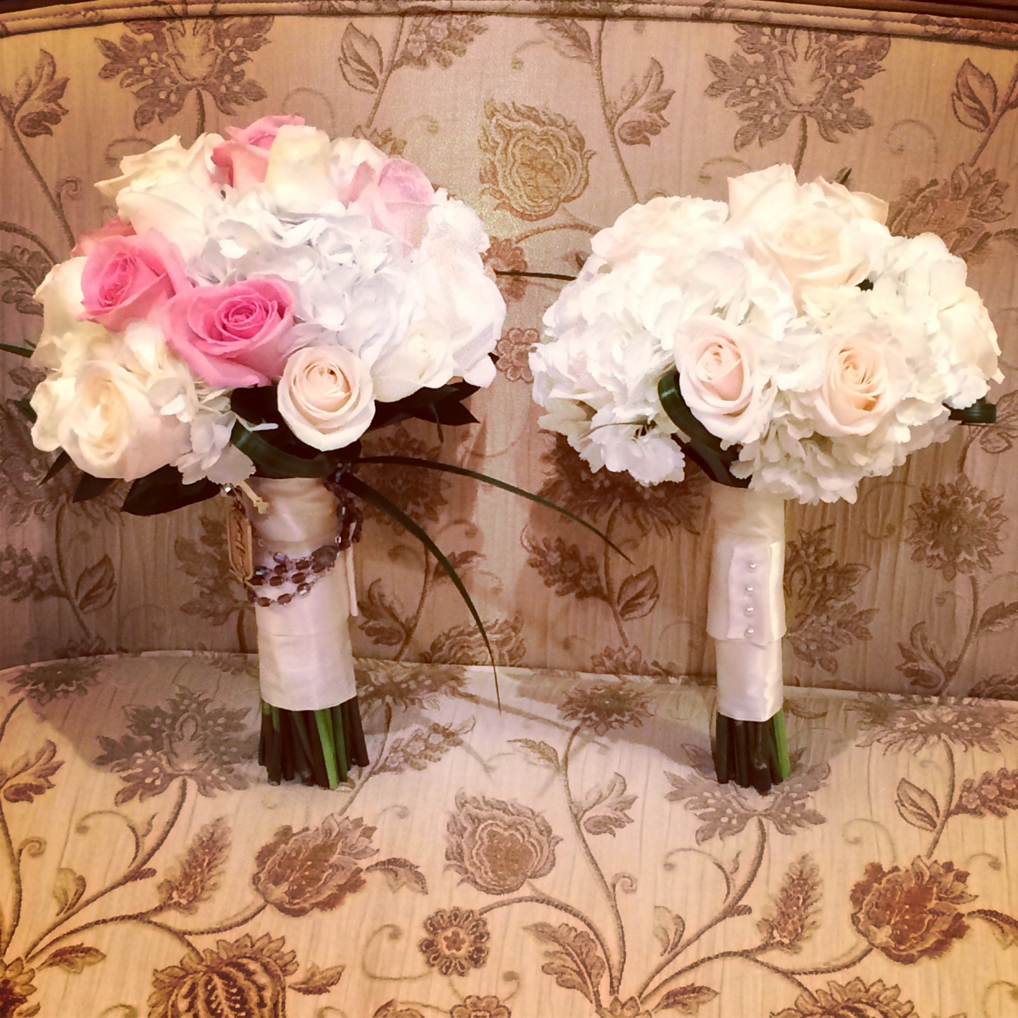 Bridal Bouquet and Maid of Honor Bouquet by The Venetian Resort Hotel & Casino Wedding Chapel.