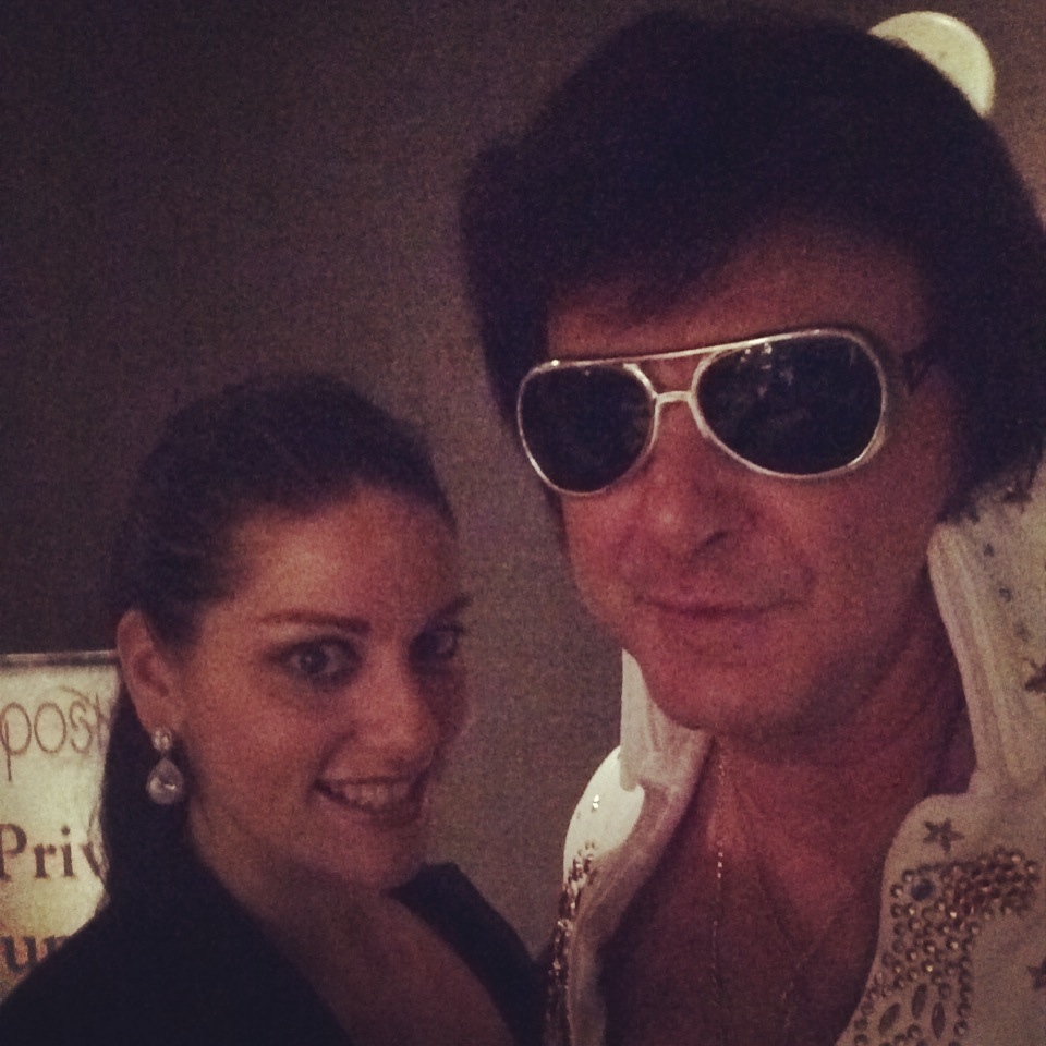 Elvis arrived at the wedding as a surprise to everyone! Including me!!!....Just kidding. I knew he was coming all along.