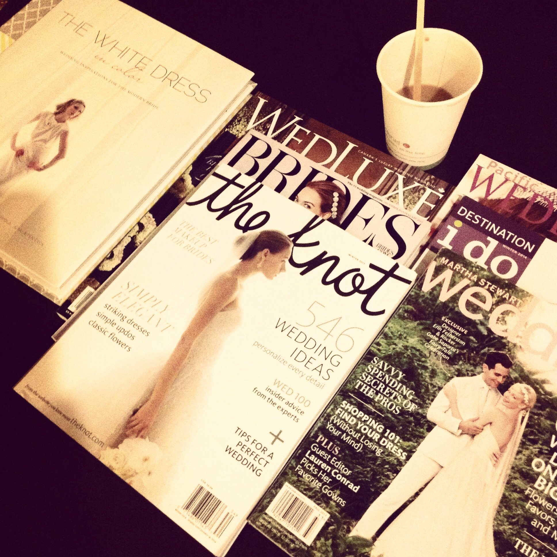 Just a little light reading - All the best wedding planning magazines!