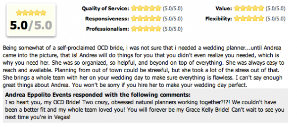 Marci (Neidich) Pugnale wrote the nicest things...Here is a snippet from The Wedding Wire.
