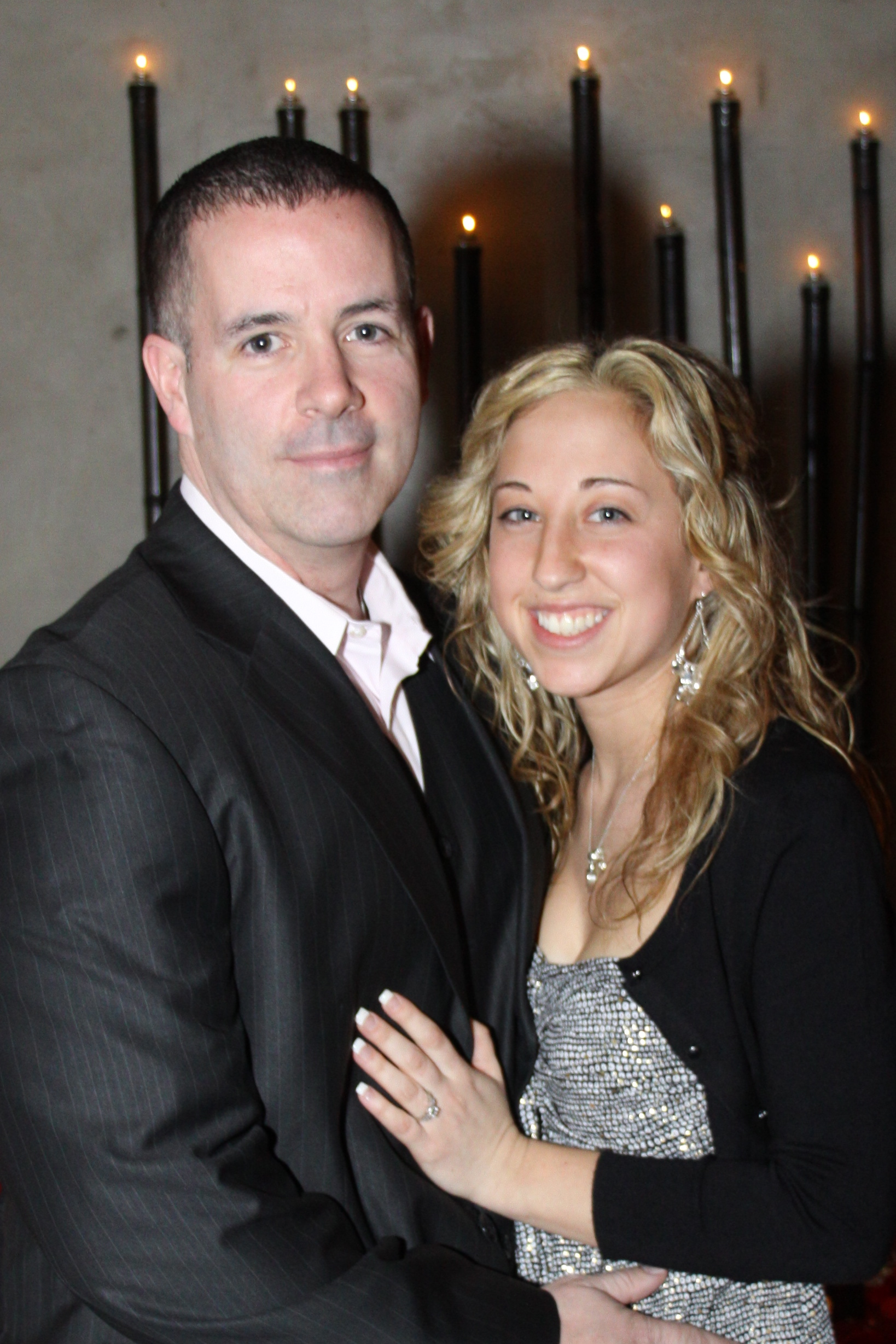 Getting engaged in Las Vegas - Congratulations Heather & Bill.
