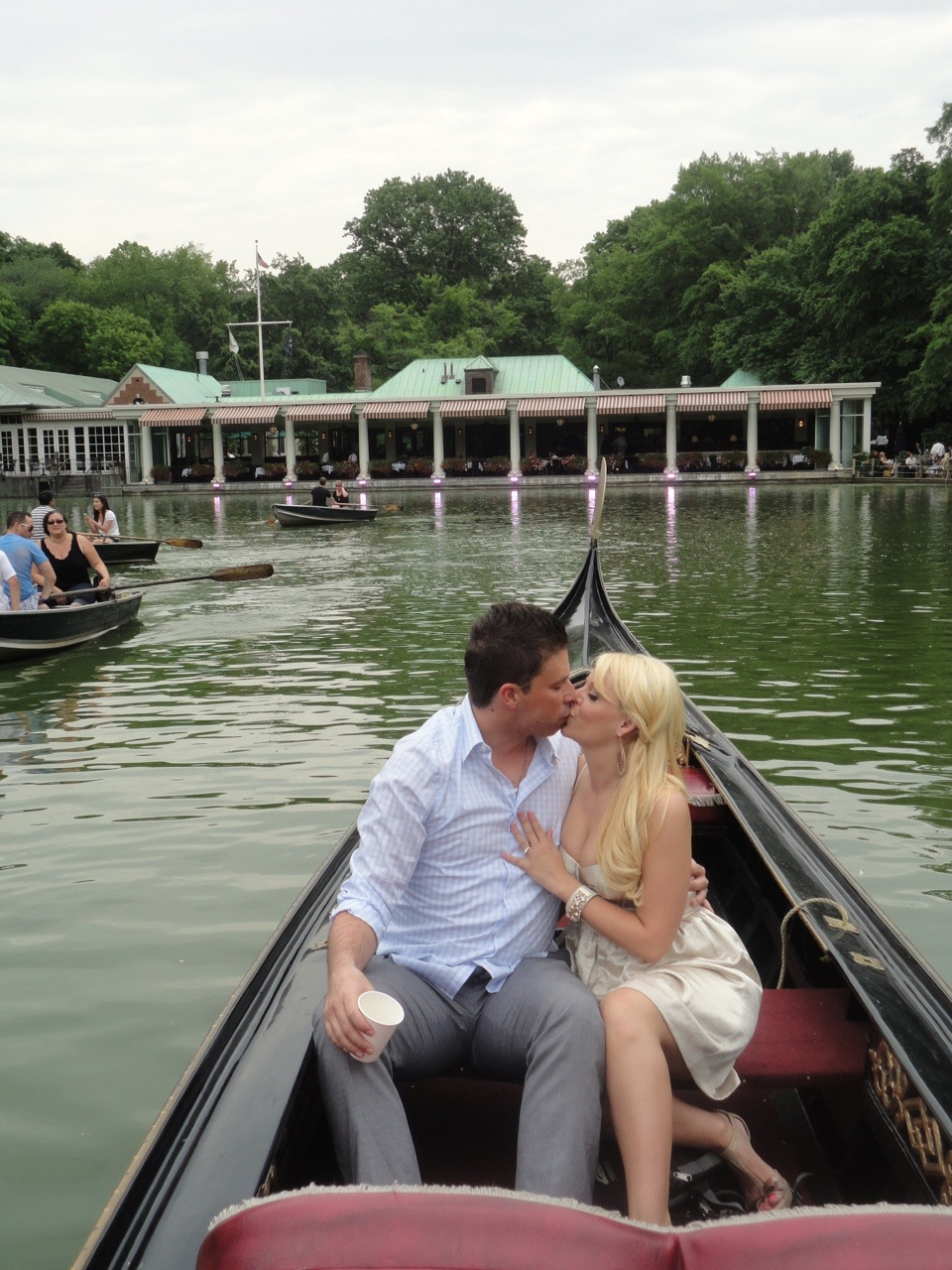 Rebecca Coles & Andrew Gullixson - Engagement at the Boathouse in Central Park.