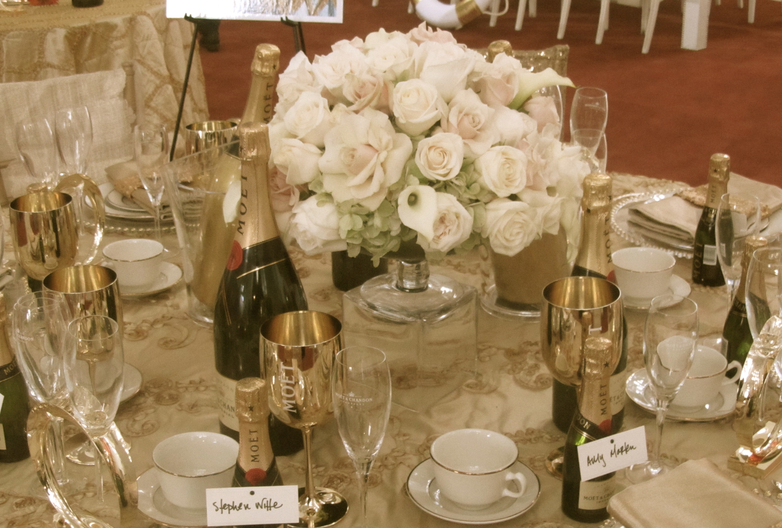 What could be more glamorous then personalized champagne bottles?