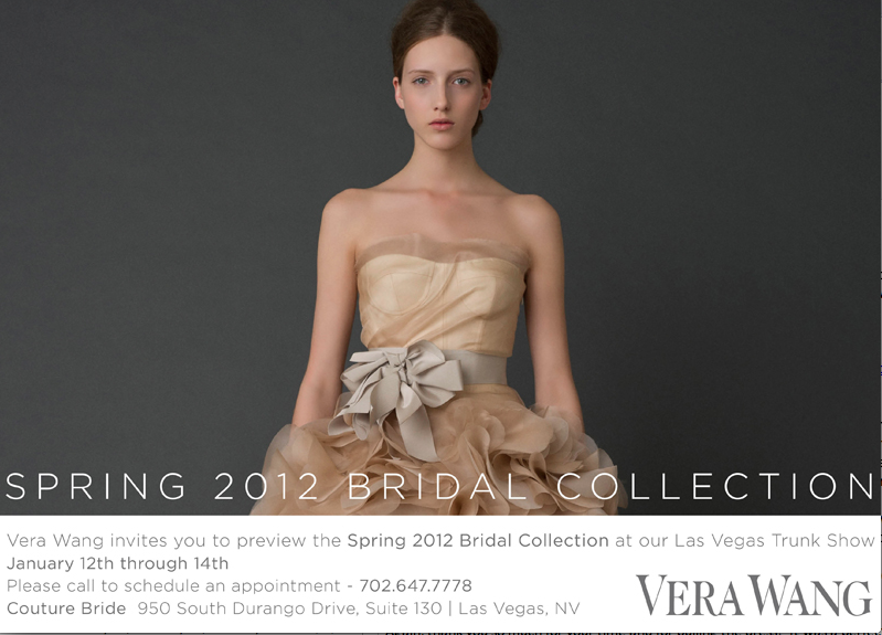 Vera Wang Trunk Show coming soon to Las Vegas!