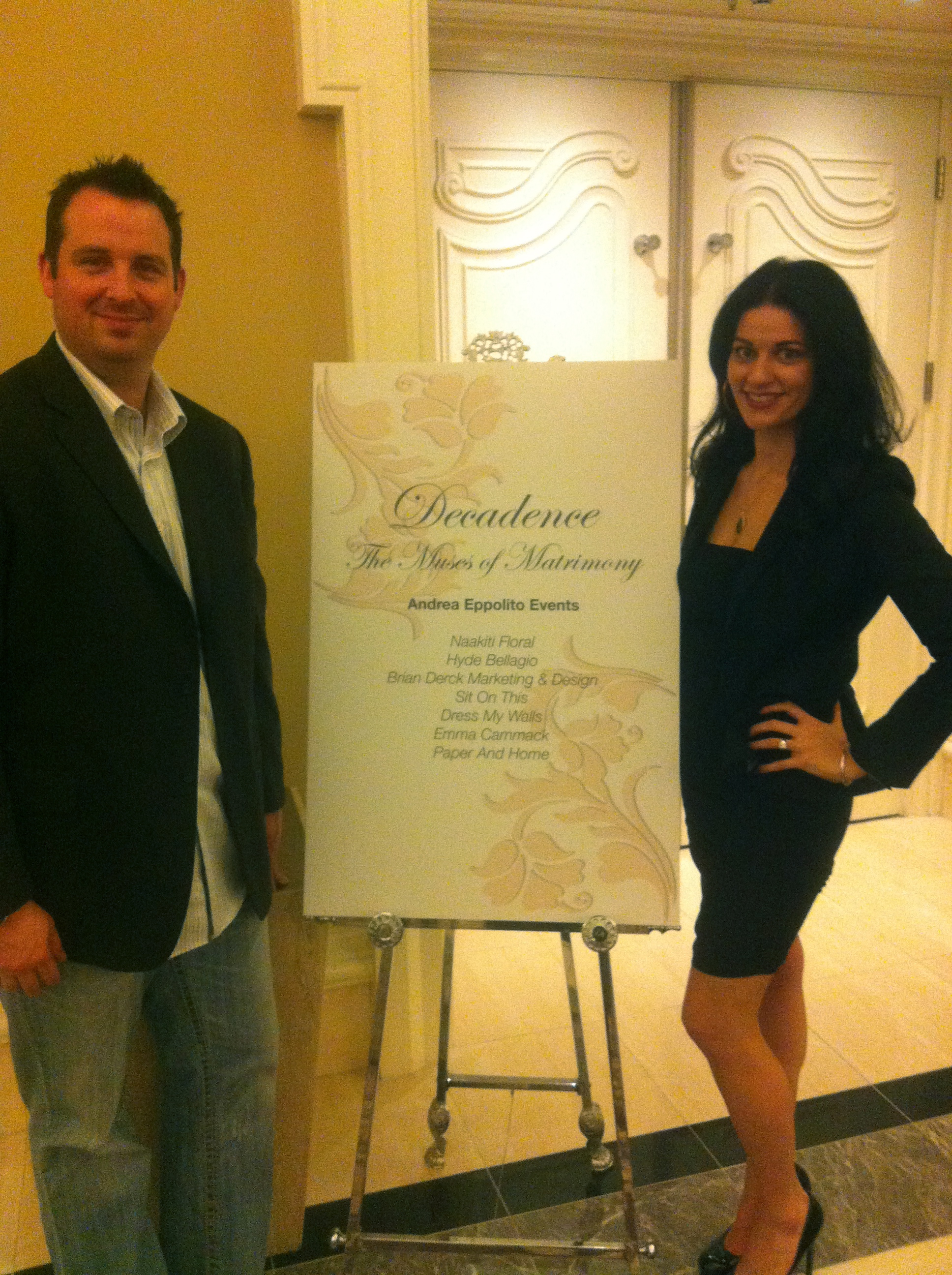 Behind the Scenes with my iPhone! Las Vegas Wedding Planner Andrea Eppolito with Brian Derck ~ Owner of Brian Derck Marketing & Design and sponsor!