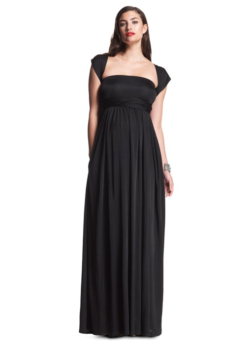 This dress from Isabella Oliver can be tied in different ways ~ Perfect for your Black Tie Bridesmaid!