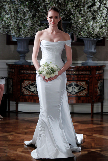 My personal pick for stand out dress from Bridal Market 2013. Cannot get it out of my mind! Photo: John Aquino Courtesy of Brides.com