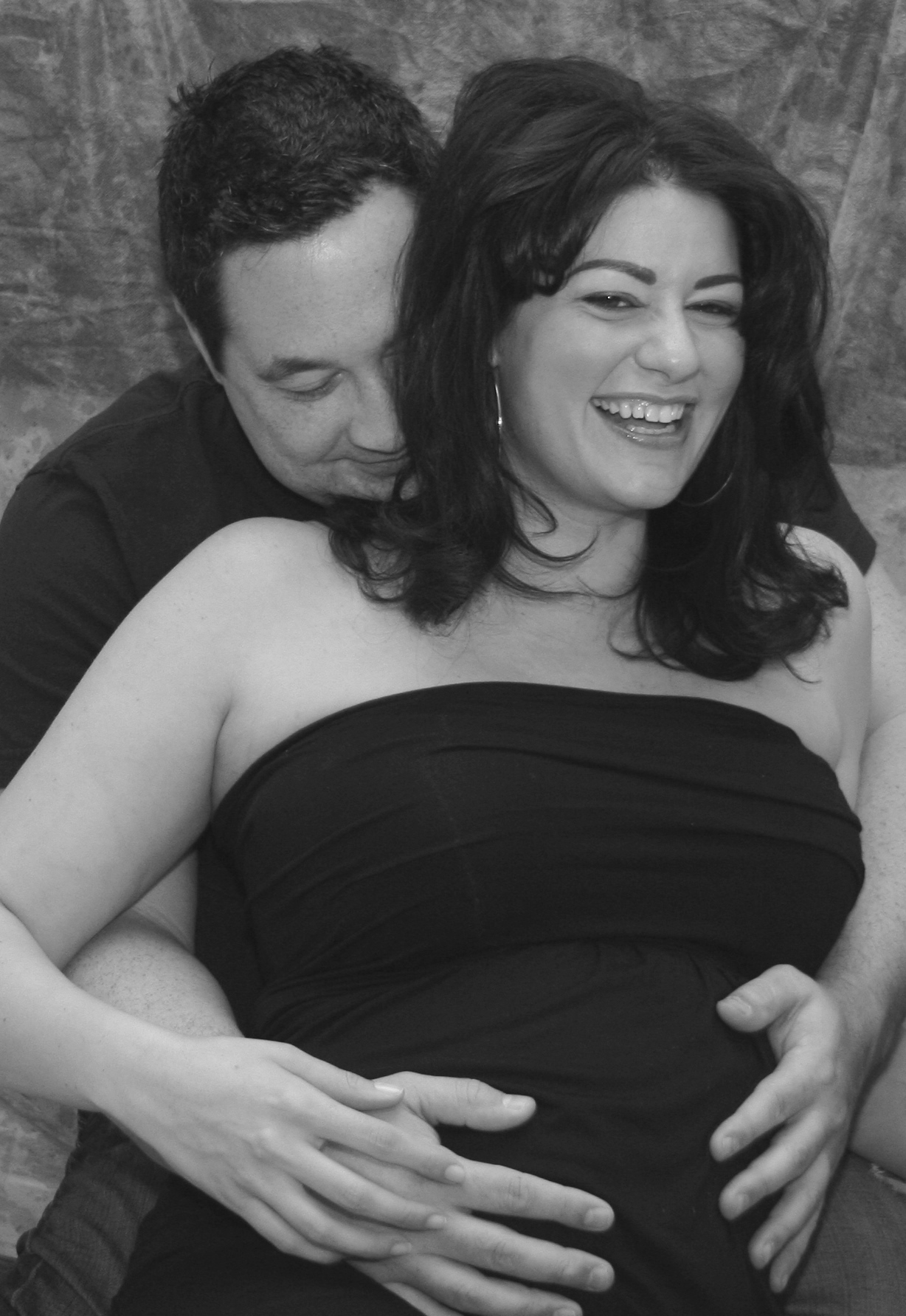 Andrea Eppolito & Tony Fisher.   Before the birth of our first child…I love everything about this moment!