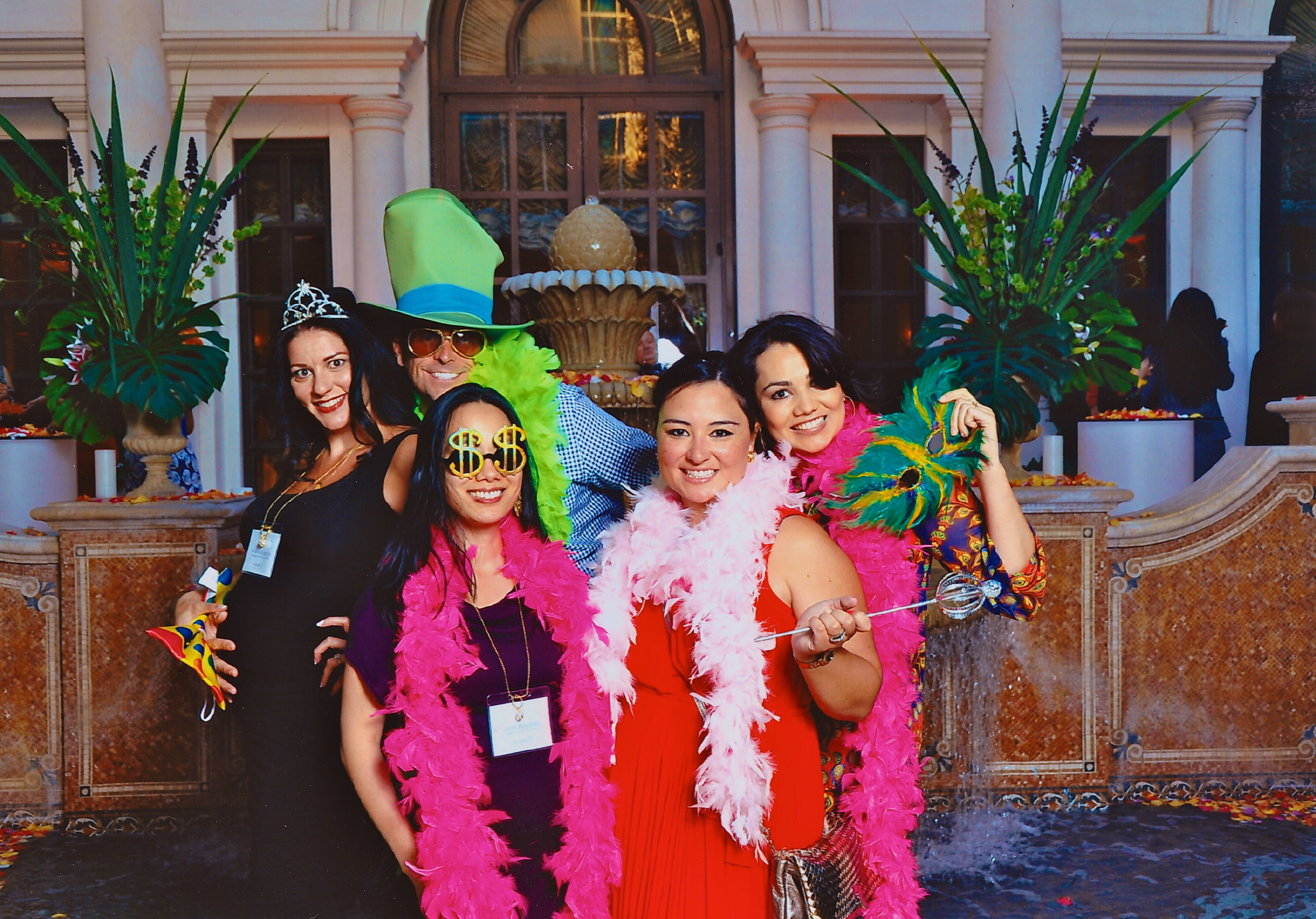 Seriously! This is what happens when wedding planners party! Notice Brian Worley's hand on my bump! Love it!