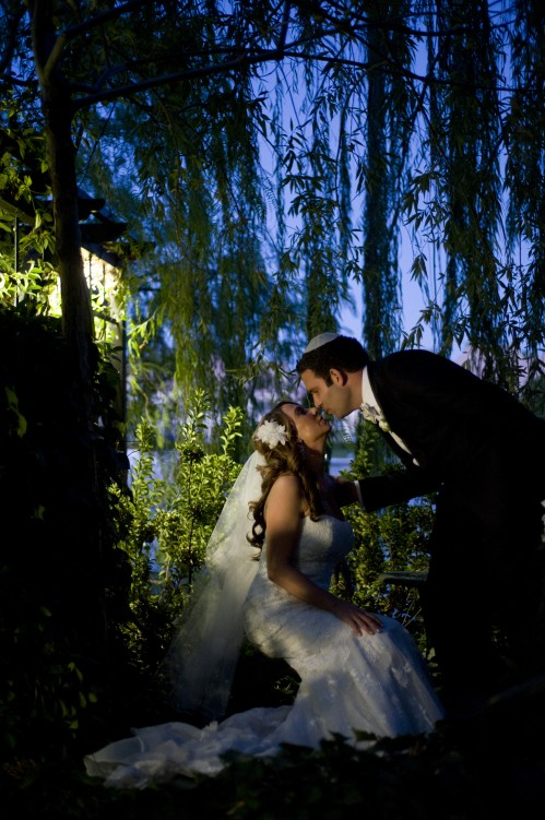 The garden at twilight - a beautiful setting for bridal portraits.  Photo by www.altf.com.