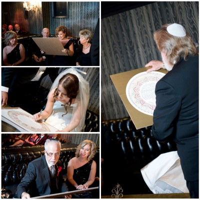 The Kettubah.  Wedding at the Hard Rock Hotel.  Photo by www.deidrawilson.com.