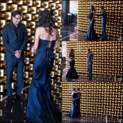 First look at the Mandarin Oriental Las Vegas.  Those colors, the way he looked at her...So perfect!