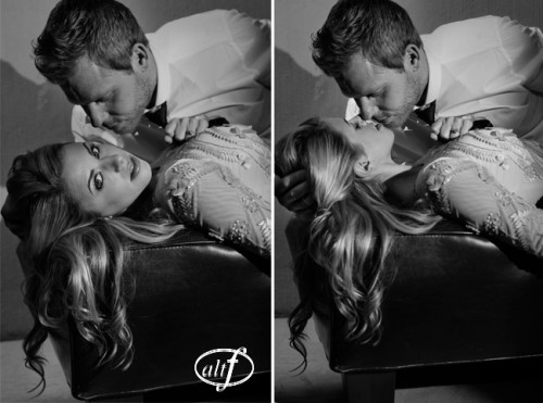 Erica & Steve - Black and White Engagement Photos.