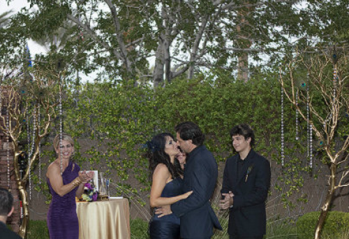 First Kiss Red Rock Country Club - You May Kiss the Bride...at 7:02 PM!