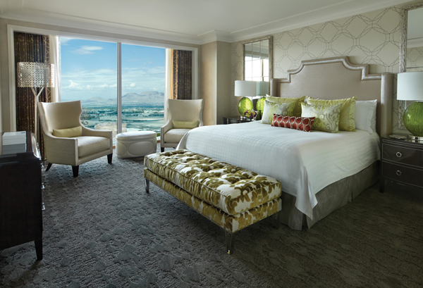 The opulent suites at the Four Seasons Las Vegas are at once both lux and very comfortable.