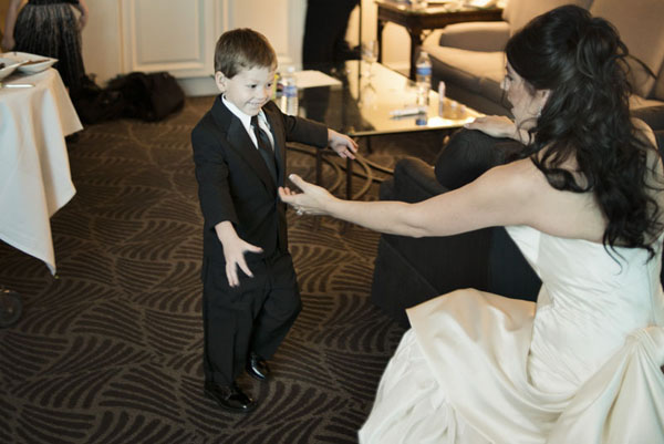 That Face!  My Little Boy just ran to me when he saw me in my dress.  Wedding at Four Seasons.  Photo by www.altf.com.