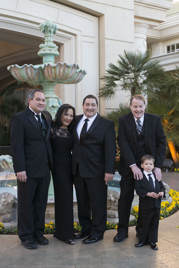 The Groom's Family Portrait.  Wedding at Four Seasons Las Vegas.  Photo by www.altf.com.