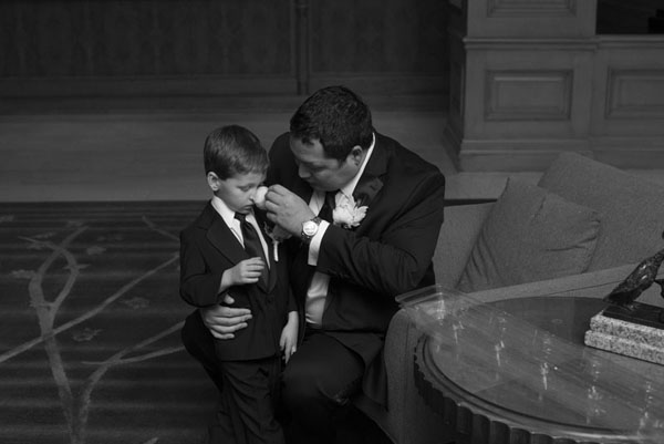 The groom and his boy.  Such a sweet moment.  Wedding at Four Seasons Las Vegas.  Photo by www.altf.com.