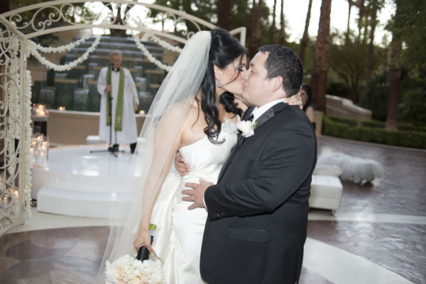 Finally married.  A private moment immediately after the wedding ceremony.  Four Seasons Las Vegas.