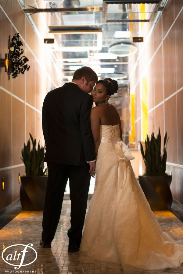 Seeing one another before the ceremony has it's advantages! Wedding portraits at Hyde Bellagio.
