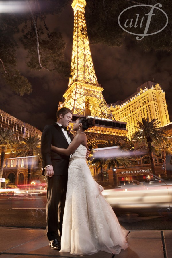 Across the street, the Eiffle Tower at Paris Las Vegas provided a gorgeouss background for photos.