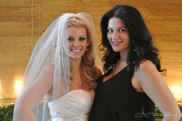 With my bride (and now friend) Rebecca - Wedding at The M Resort.