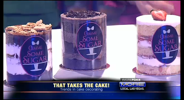 Naked Cake from Gimme Some Sugar - Cake Talk on MORE Fox 5 for Wedding Week.