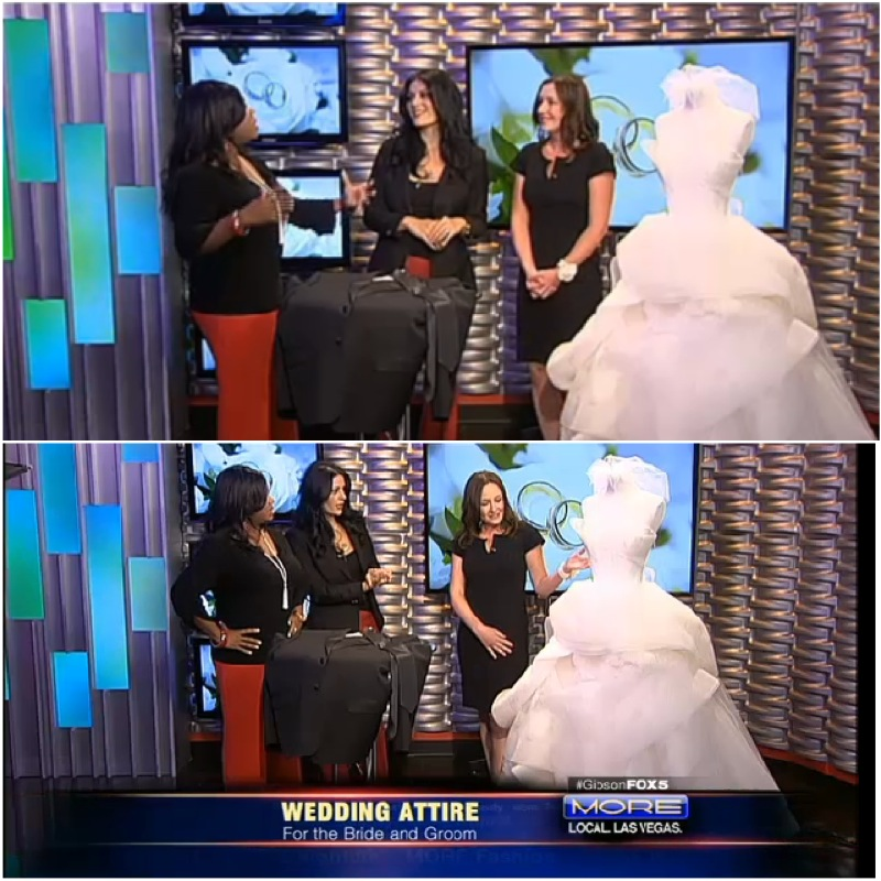 Playing Wedding Planner & Stylist on MORE Fox 5 with Dawn from Couture Bride.
