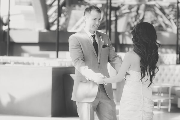 This is why you do a first look – Look at how he looks at her! Photo by Adam Trujillo.