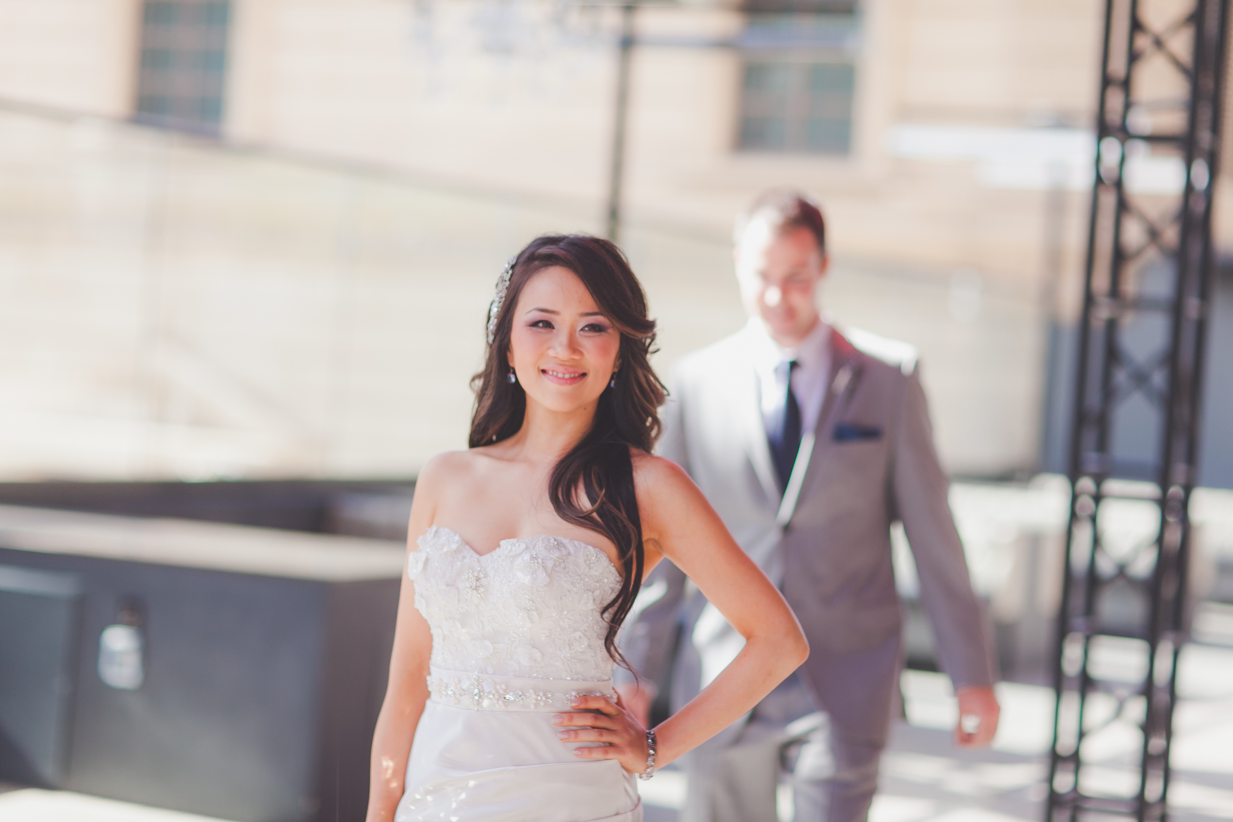 First Look - Our bride waits for her groom. Photo by Adam Trujillo.
