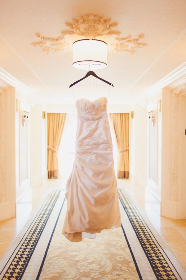 Wedding Gown by Anais Collezione. Wedding at the Paris Las Vegas.  Photo by Adam Trujillo.
