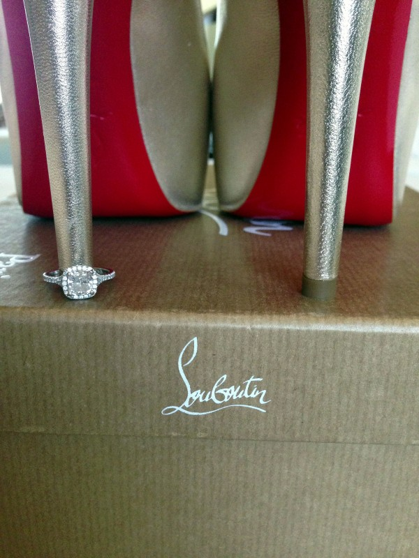A little bit of bling and a whole lot of sexy red soles!