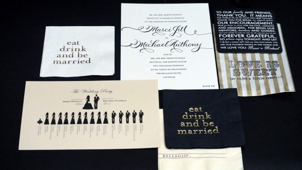 Custom Stationary Suite – Each piece told a part of the story. The program was designed by the Groom! Photo by Andrea Eppolito