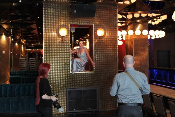 John Michael Cooper & Danielle D of AltF setting up a stunning photo in Vanity at the Hard Rock Hotel. Photo by Las Vegas Wedding Planner Andrea Eppolito.
