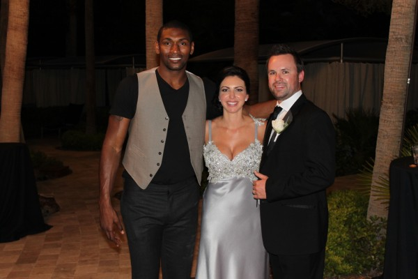Meta World Peace. Lakers Player & Wedding Guest. Photo by Las Vegas Wedding Planner Andrea Eppolito.