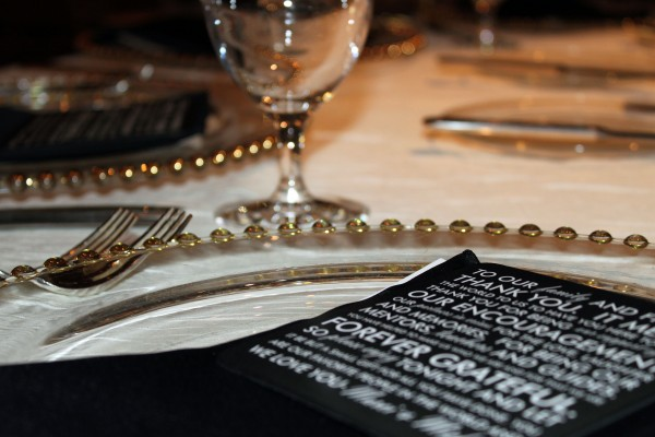 Each guest was greeted with a personalized Thank You Card from the Bride & Groom. Photo by Brian Derck.