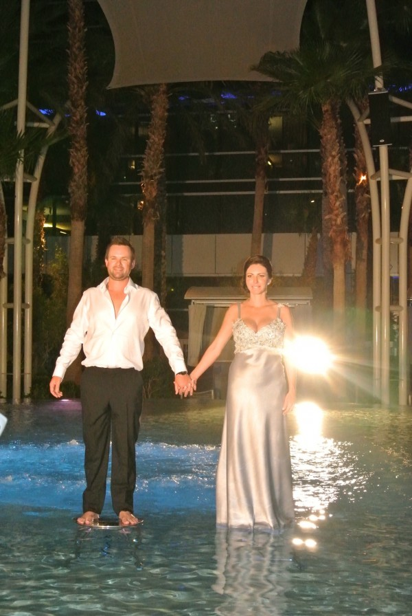 Walking on Water. Photo by Las Vegas Wedding Planner Andrea Eppolito.